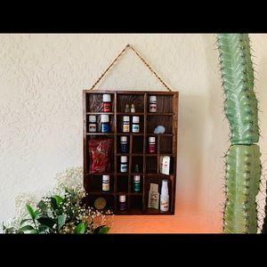 Vintage Wooden Essential Oil Shelf Display Boho